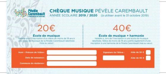 Les chèques musique sont de retour
